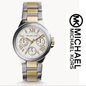 NWT Michael Kors Two Tone Stainless Steel Watch